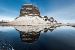 Lomagnupur in een winterse omgeving