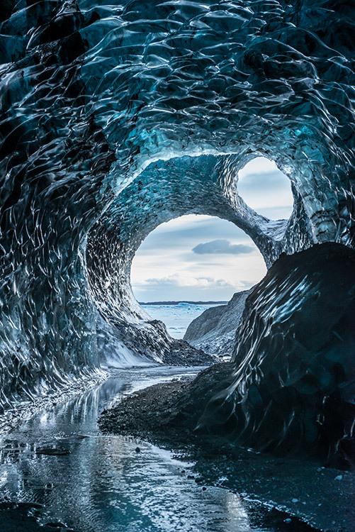 In de ijsgrot