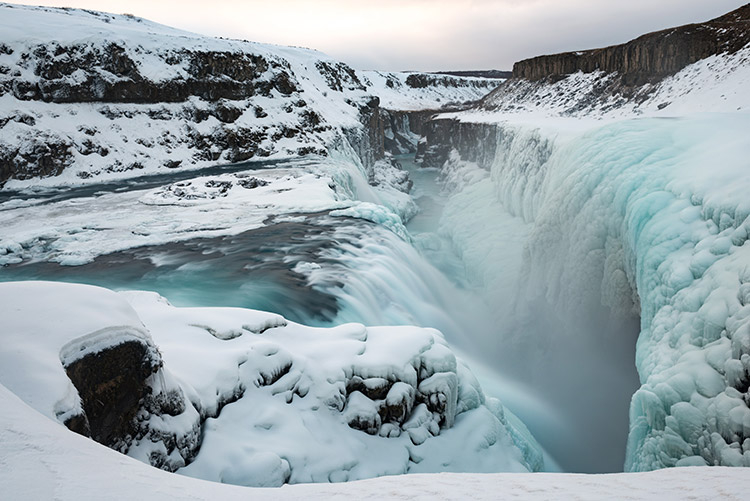Gullfoss in de winter