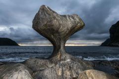 Kannesteinen, een markante rots