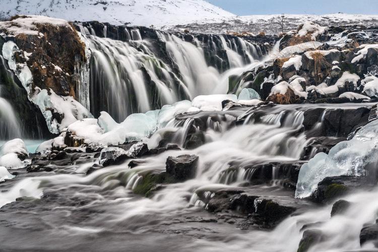 Bruarfoss in Zuid IJsland