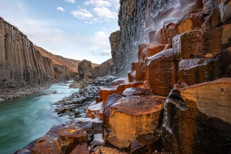 De Stuðlagil, de mooiste vallei van IJsland